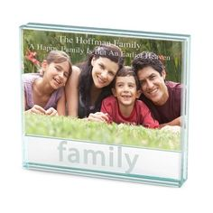 Family Glass Frame at Things Remembered $25.00