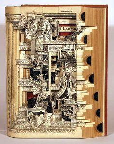 Carved sculpture from book. Brian Dettmer is the artist. Memento Mori, Altered Books, Altered Art, August Sander, Fred Herzog, Herbert List, Book Burning, Paper Art Design, Lee Friedlander