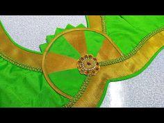 Salwar Neck Designs, Saree Blouse Neck Designs, Blouse Patterns, Sewing Patterns, Patch Work Blouse Designs, Simple Blouse Designs, Sleeves Designs For Dresses, Sleeve Designs, Henna Tattoo Designs