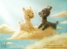 Daily Paint 1827# Cloud Alpacas by Cryptid-Creations