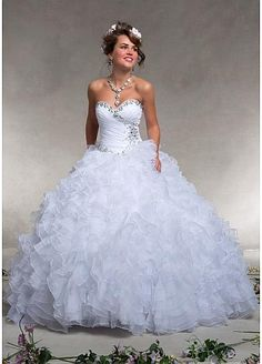 Stunning Organza Sweetheart Neckline Floor-length Ball Gown Prom Dress   #SemiAnnual Sale