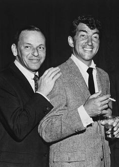 Forever Frank Sinatra : Frank and Dean photographed at a Rat Pack benefit...