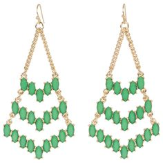 Kirra Tate Green Arrow Earrings