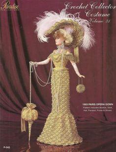 1903 Paris Opera Gown                       Vol 31 Paradise Crochet Pattern