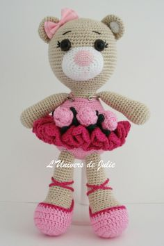 Bibi the Ballerina Bear Ours Ballerine SmartApple Creations L'univers de Julie Nouvelle photo
