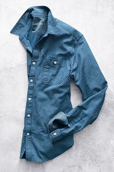 The iconic denim worker shirt