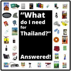 Thailand Checklist: What Do I Need for Thailand? http://www.kohsamuisunset.com/what-do-i-need-for-thailand/