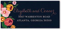 Flawless Flowers Address Label by Between Friends