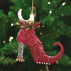 Patience Brewster Tin Doves In A Boot Ornament