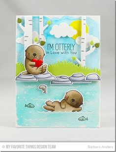 7 Jan 2017 : Paper Pursuits :  BB Otterly Love You Stamp Set, BB Otterly Love You Die-namics,