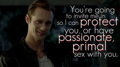 Eric Northman (alexander skarsgaard) True Blood.  I'd invite him in for either!