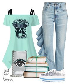"""""""Campus Chic: First Day of School"""" by france-dream ❤ liked on Polyvore featuring Citizens of Humanity, Kenzo, Marc Jacobs and BackToSchool"""