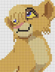 Vitani Lion King perler bead pattern