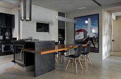 Detalhe direito para porta de acesso a lavanderia porta piso teto porta diferenciada