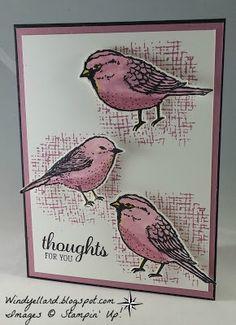 Windy's Wonderful Creations: PPA306 My Best Birds in Sugarplum!, Stampin' Up!, Best Birds, Birds & Blooms dies