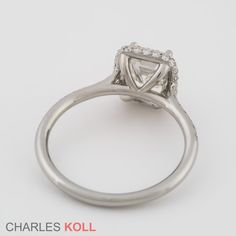 Cushion Halo Engagement Ring http://www.charleskoll.com/design/cushion-halo-engagement-ring/