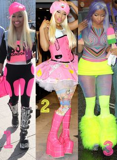 Which Nicki Minaj' outfit would you wear to school?