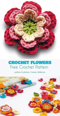 Crochet Flowers Free Pattern One of the problems with many flower appliques is their These beauties are true, honest to goodness flowers with a developed texture. Crochet Whale, Crochet Daisy, Love Crochet, Easy Crochet, Crotchet, Crochet Motifs, Crochet Stitches, Crochet Patterns, Easy Knitting Projects