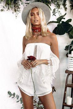 0704d7e5de6 Ornament Playsuit  SABOSKIRT Fashion Clothes Online