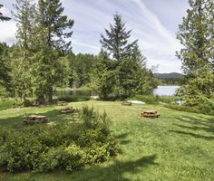 Cusheon lake resort on Saltspring. Emailed them. Campground type with cabins.