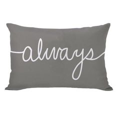 Down alternative pillow with a fine script motif.Product: PillowConstruction Material: Premium polyester cover and dow...