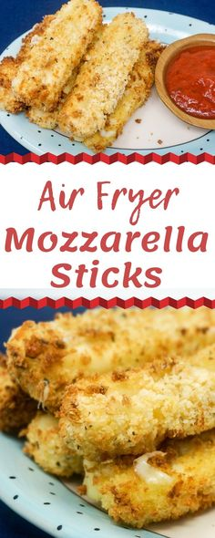 Fryer Mozzarella Sticks are a delicious appetizer for your next Italian night. These cheesy bites are perfect to make ahead of time and can be Air Fried in only minutes when you are ready to eat. Air Fryer Oven Recipes, Air Fry Recipes, Air Fryer Dinner Recipes, Snacks Recipes, Yummy Recipes, Dessert Recipes, Homemade Cheese Sticks, Homemade Mozzarella Sticks, Air Fryer Recipes Mozzarella Sticks