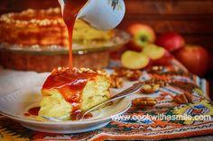 ябълкова торта с карамелен сос
