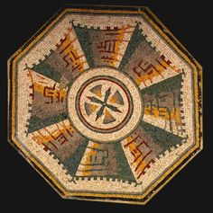 "Roman-Byzantine Mosaic Panel - PF.5305 Origin: Mediterranean Circa: 300 AD to 600 AD Dimensions: 39.75"" (101.0cm) high Collection: Classical Medium: Mosaic"