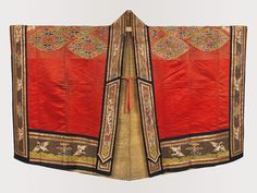 Daoist Dignitary Robe, Qing dynasty (1644–1911), 17th–18th century China Satin, metallic thread