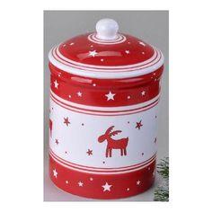 formano Gebäckdose mit niedlichen Weihnachts-Motiven in rot-weiß