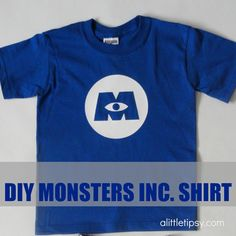 How about making a Monsters Inc. shirt? It is so, so easy