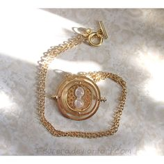 Golden Time Turner Necklace ($20) ❤ liked on Polyvore featuring jewelry, necklaces, golden jewelry and golden necklace
