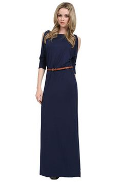 The Della Dress with Belt in Navy by Tart at CoutureCandy.com