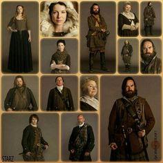Some of the Outlander Clan, Season Composite. Diana Gabaldon Outlander Series, Outlander Book Series, Outlander Casting, Outlander Tv Series, Starz Outlander, Outlander Characters, Scottish Warrior, Books, Entertainment