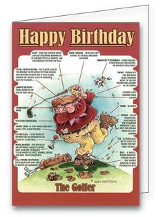 A Birthday Card For The Golfer In Your Life Find It At Greetings4golfers