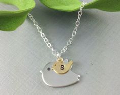 Mommy/Baby bird pendant