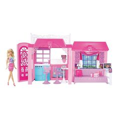 Barbie Pink-Tastic Glam Vacation House and Doll, Multicolor