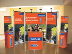 Display Stand for Reliance Communications using our Highline Product. Read more about our products at http://www.expodisplayservice.ae/allproducts.asp