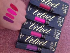 MUA Luxe Velvet Lip Lacquers  Ifinally jumped on the bandwagon andpurchased The MUA Luxe London velvet lip lacquers. They retail for £3.00 each and come in 5 different shades - ATOMIC which is an orangey sort of colour , KOOKY which is a true dark...