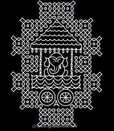 Rangoli Patterns, Rangoli Ideas, Rangoli Designs With Dots, Kolam Rangoli, Rangoli With Dots, Kolam Designs, Pooja Room Design, Muggulu Design, Mandala Art Lesson
