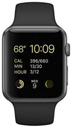 Apple Watch Sport, Space Grey Aluminum Case/Black Band, 42mm #Apple