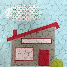 Splendid Sampler quilt block #56: At Home Anywhere