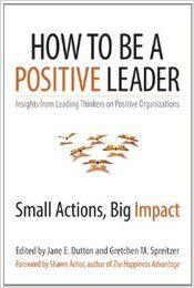 How to Be a Positive Leader: Small Actions, Big Impact edited by Jane Dutton and Gretchen Spreitzer... I can't wait!!! These two are the best researchers I've read throughout my thesis project!