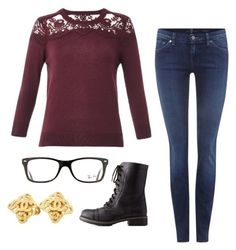 """""""Untitled #7"""" by devynbarton on Polyvore featuring Erdem, 7 For All Mankind, Charlotte Russe, Ray-Ban and Chanel"""
