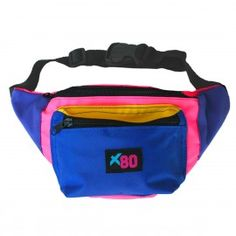 Ski Junky Fanny Pack - neon pink, yellow, and blue fanny pack. $24.95