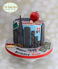A New York Themed Birthday Cake