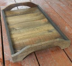Rustic Serving Tray easily made out of a pallet.