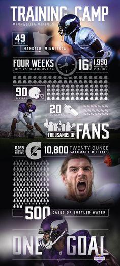 Minnesota Vikings Infographic by Lauren Belair, via Behance