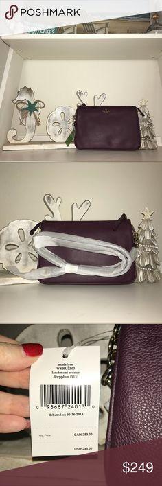 NWT Kate Spade Madelyne Larchmont Avenue Soft Lime Stone Crossbody Bag $249