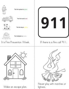 Fire Prevention Week Mini Book from TwistyNoodle.com